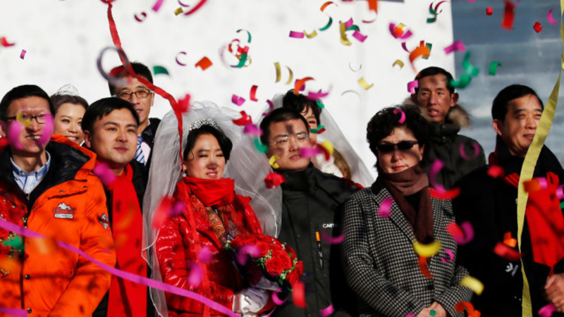 Mass marriages on ice in China