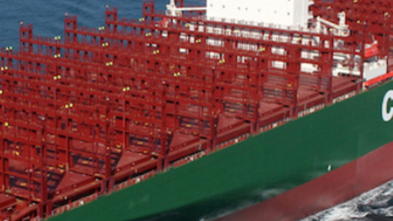 World's largest container ship docks in UK