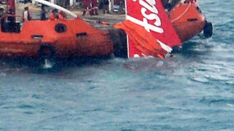Tail of AirAsia plane found