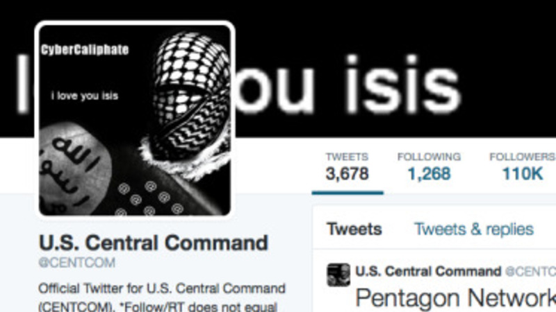 US Central Command Twitter feed hacked