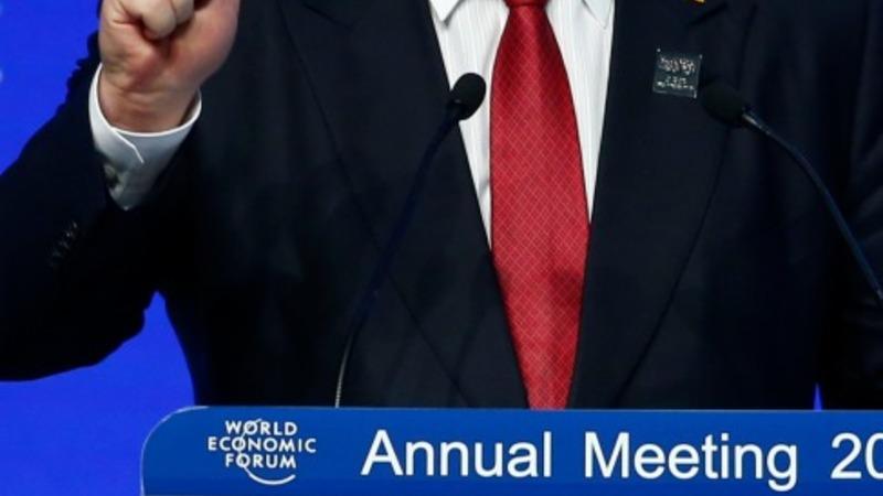 Ukraine president leaves Davos early