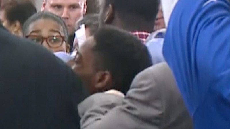 Ferguson forum turns into brawl