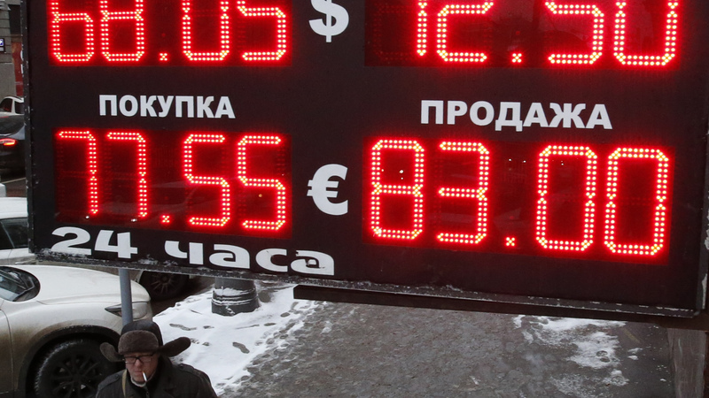 Russia rate rethink rocks rouble