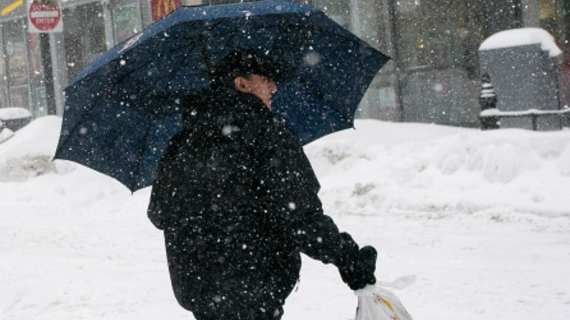 Snow blankets much of the U.S. Northeast
