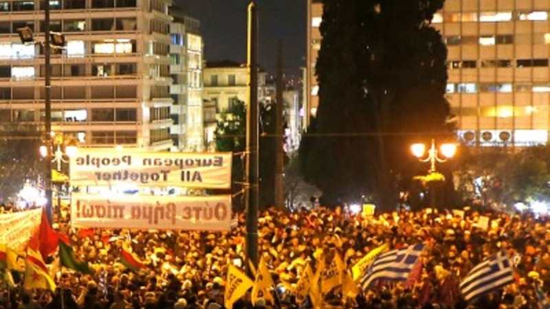 Thousands protest in Athens against austerity