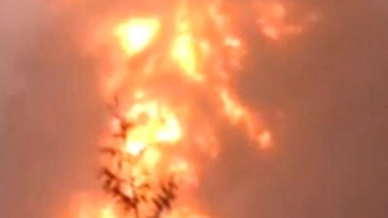 Oil train derails, explodes in West Virginia