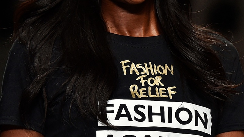 Campbell catwalk show supports Ebola charity