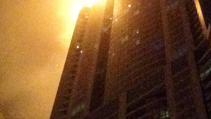 Fire torches through Dubai Skyscraper