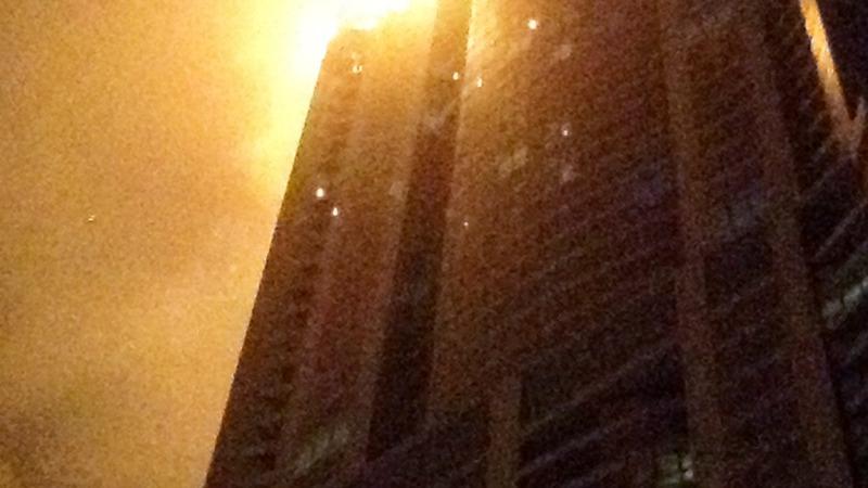 Fire torches through Dubai Skyscraper