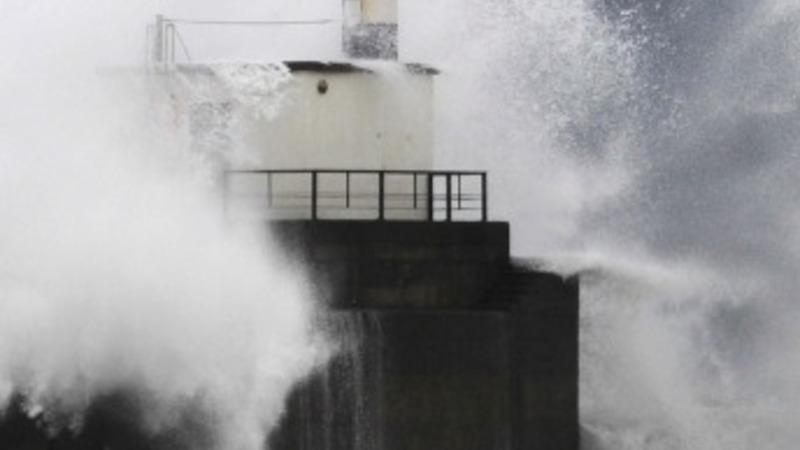 Winter waves hit Atlantic coasts