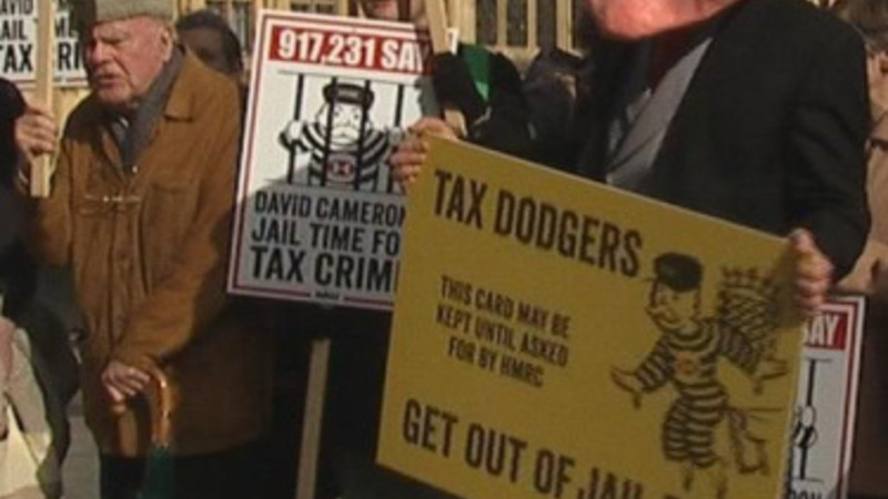 Parliamentary protest against tax dodgers