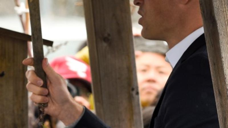 Prince William rings Japan's bell of hope