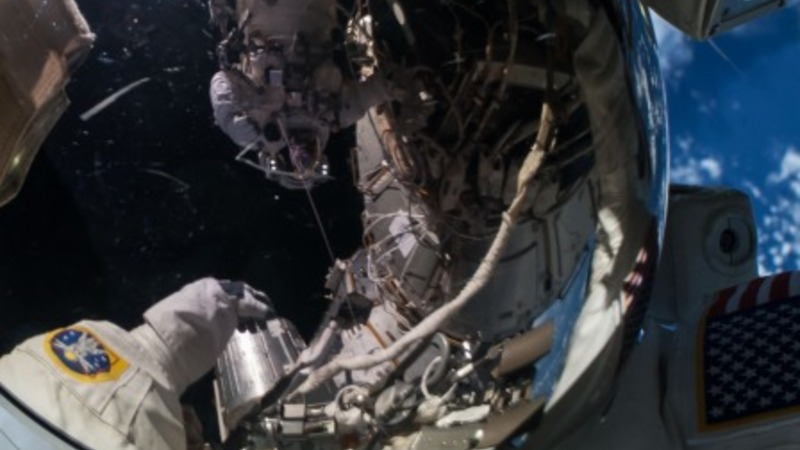 NASA's 'cable guys' complete spacewalk