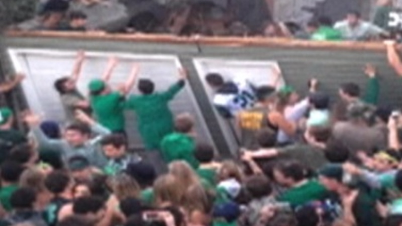 9 injured after college party roof collapse