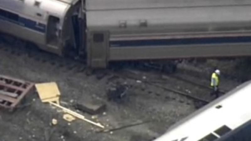 Amtrak train, truck collide in North Carolina