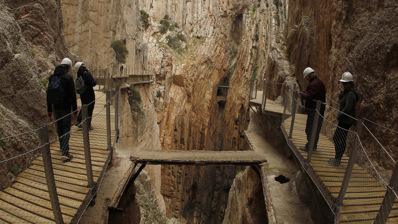 Scariest pathway re-opens in Spain