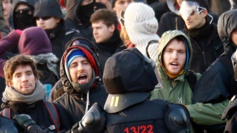 Blockupy protests break out in Frankfurt