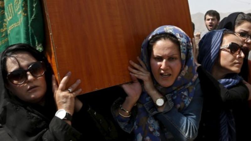 Burial of Afghan women killed in mob lynching