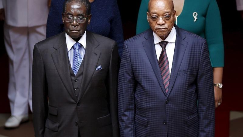 Zimbabwe's Mugabe visits South Africa