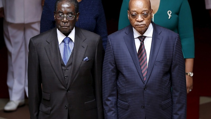 Zimbabwe's Mugabe visits South Africa