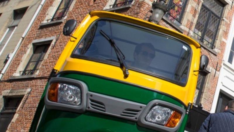 Electric rickshaw hits Belgium