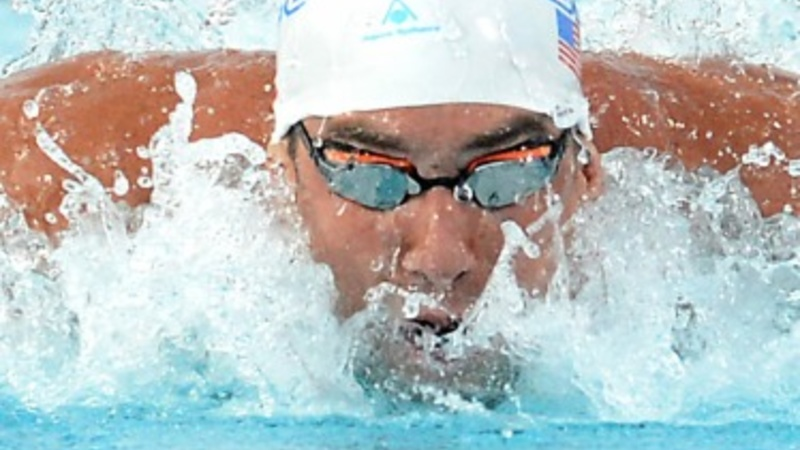 Michael Phelps is back in the water