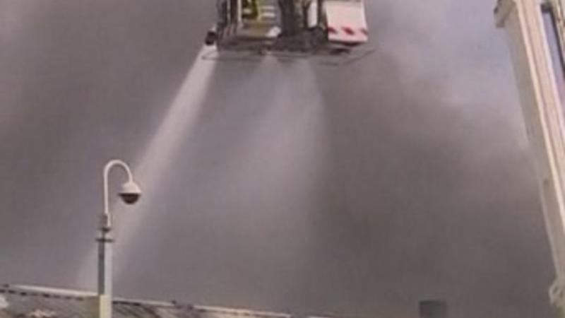 70 firemen tackle blaze at UK factory