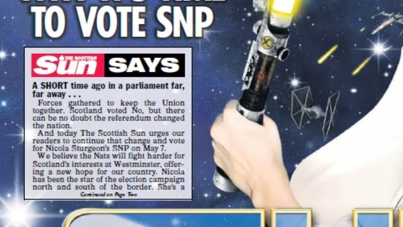 The Sun backs the Tories...and the SNP