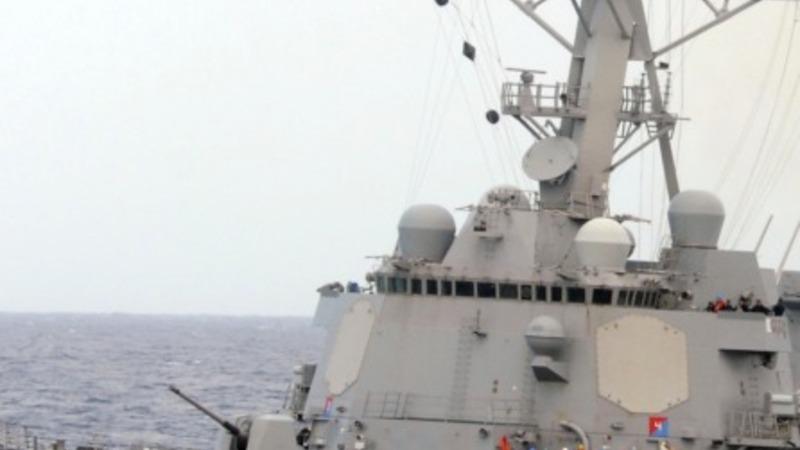 U.S. Navy ships keep an eye on Persian Gulf