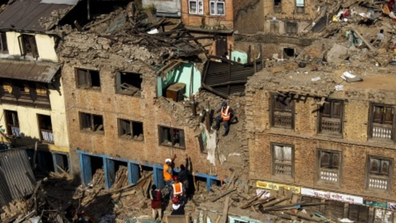 Nepal's deadly earthquake caught on video