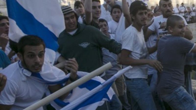 Palestinians clash with police on Jerusalem day
