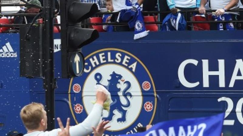 Chelsea parade Premier League trophy