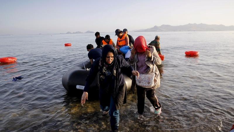 Syrian refugees strain Greek island of Lesbos