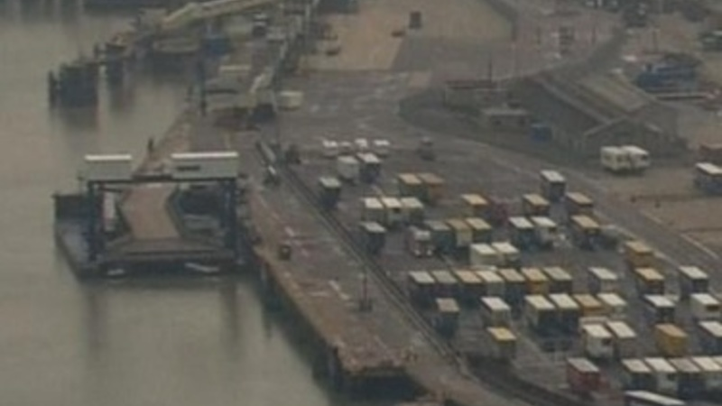 Immigrants found in trucks at British port