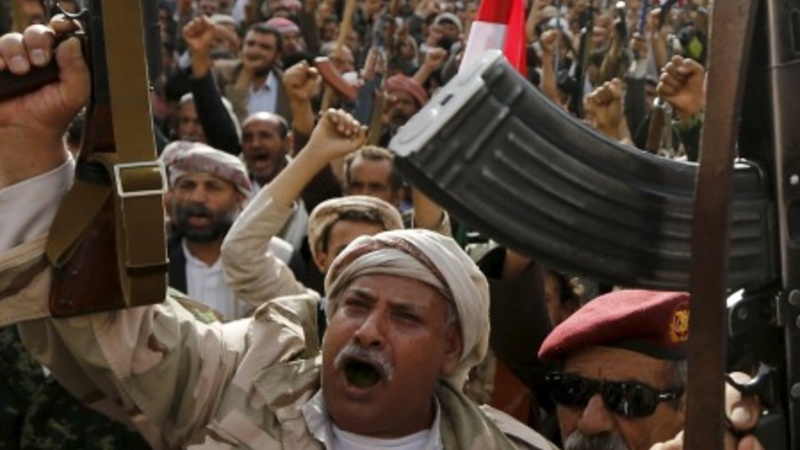 Protest ahead of Yemen peace talks