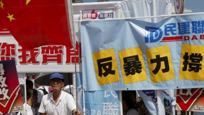 Political tensions bubble in Hong Kong