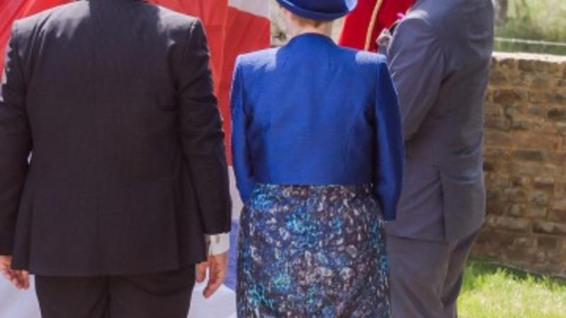 Prince Charles unveils Waterloo memorial