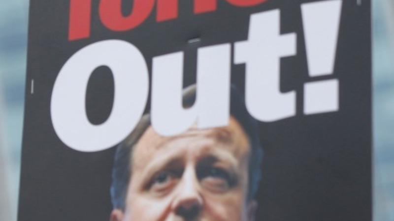 Mass demonstration against UK austerity