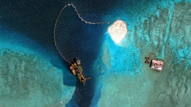 China's island building puts reefs in danger