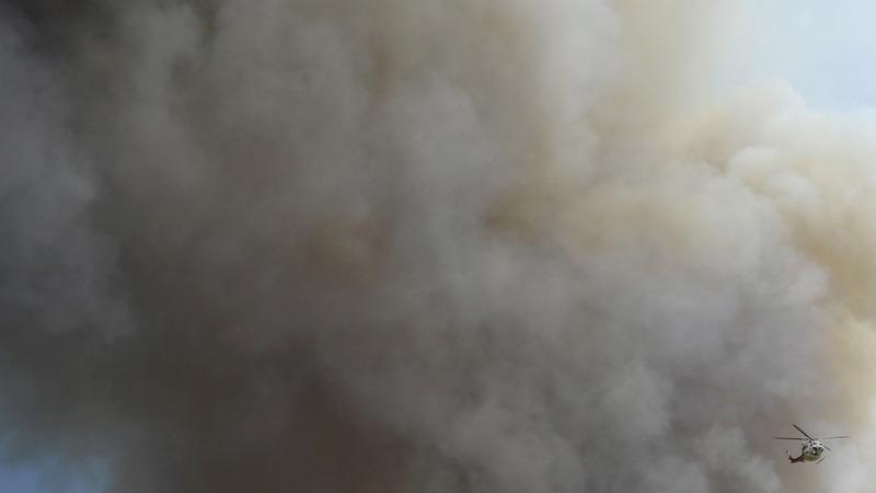 Drones foil California fire fight