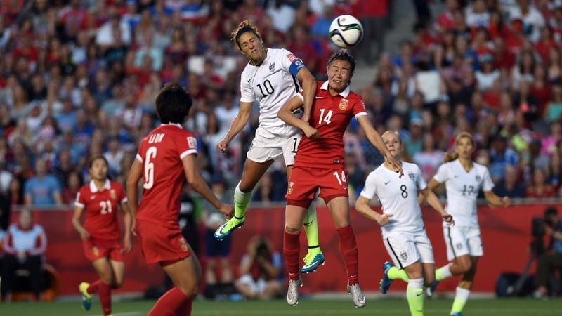 U.S. women beat China, advance to semi-finals