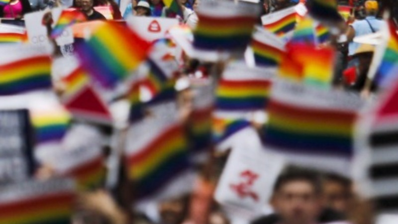Gay pride parades celebrate marriage ruling