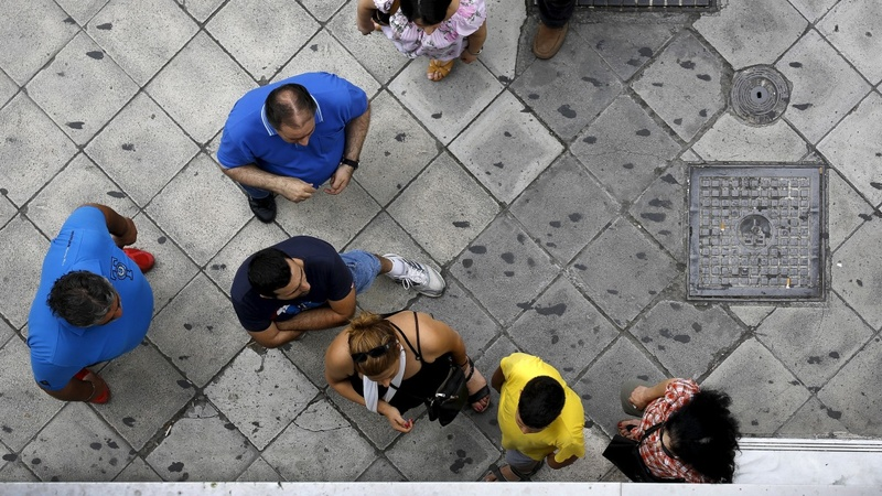 Greek banks shut, ATMs run dry