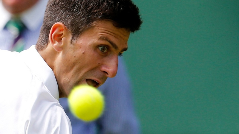 Djokovic's opening smash at Wimbledon