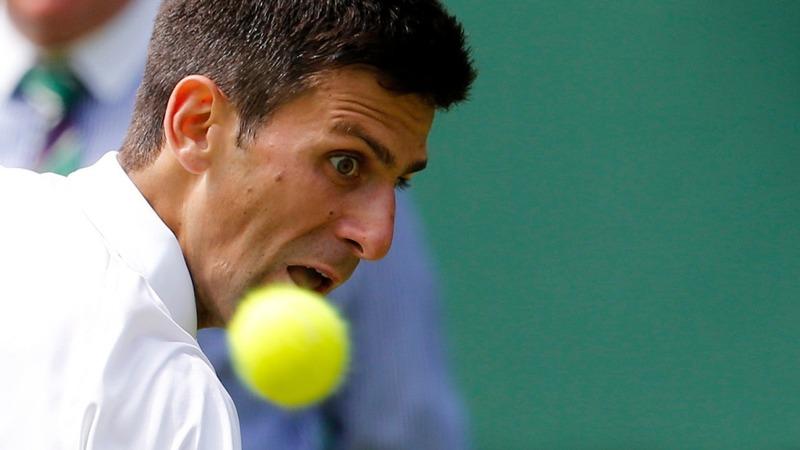 Djokovic's opening smash at Wimbledon