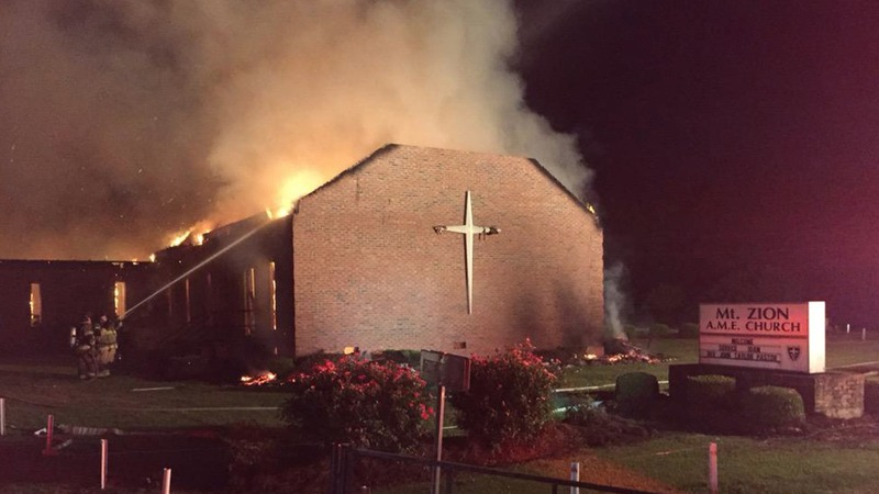 Feds investigating spate of black church fires