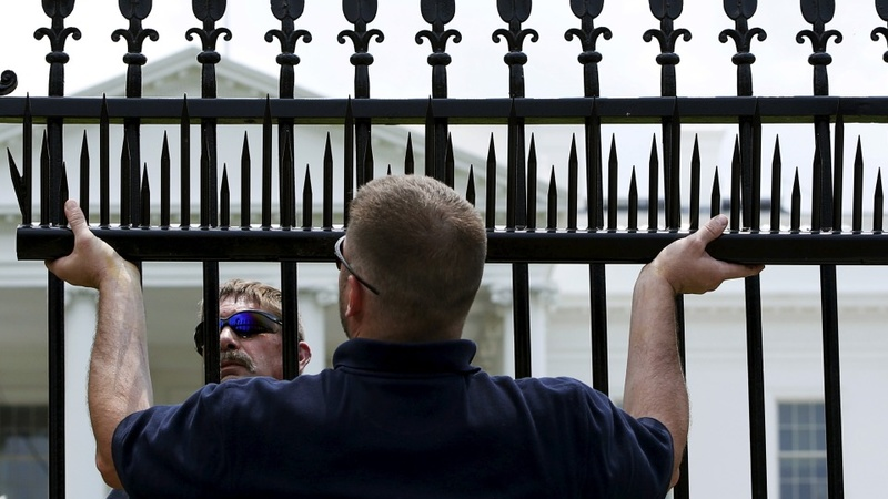 Security 'spikes' at White House