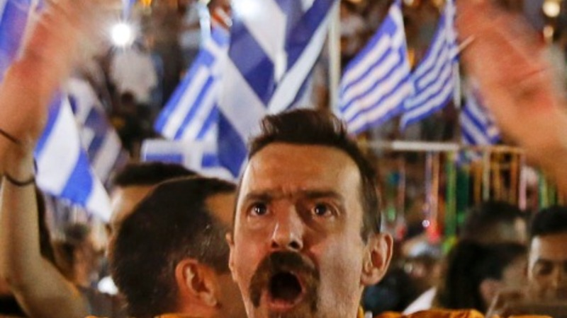 Early results show Greece votes 'No'