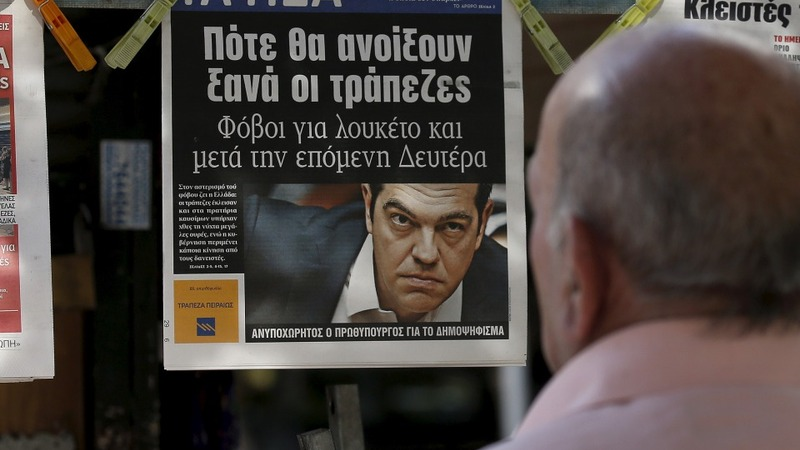 Greek papers depict the hope and fear ahead