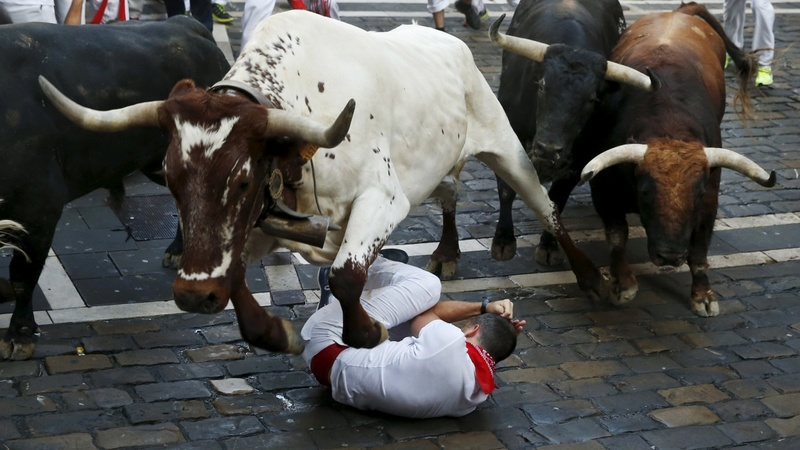 IN PICTURES: Running with the Pamplona bulls